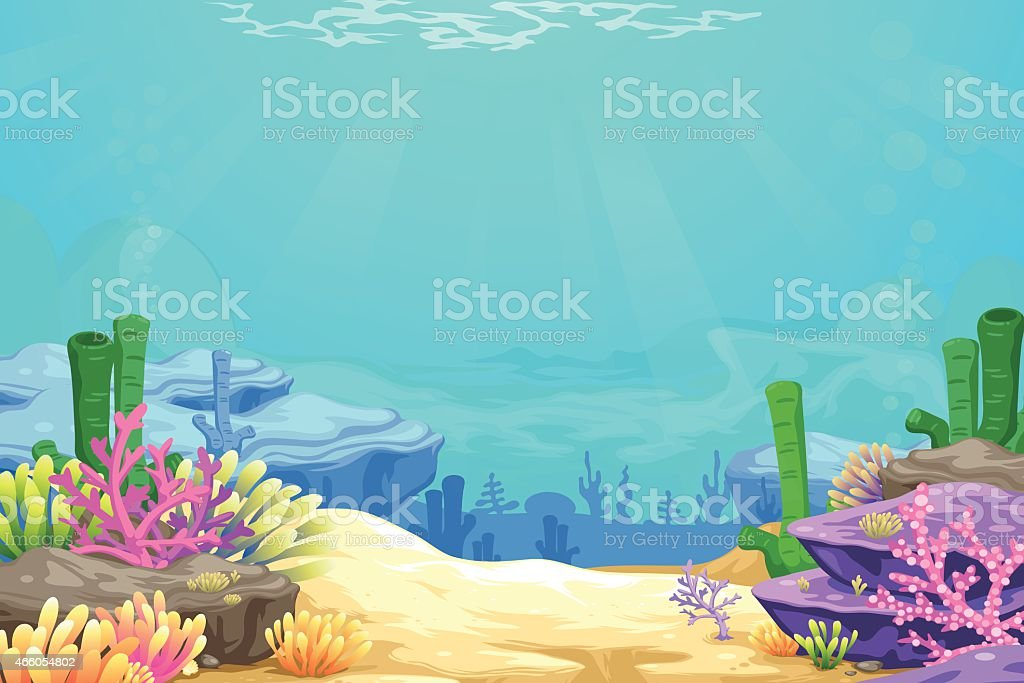 under the sea vector background vector art illustration