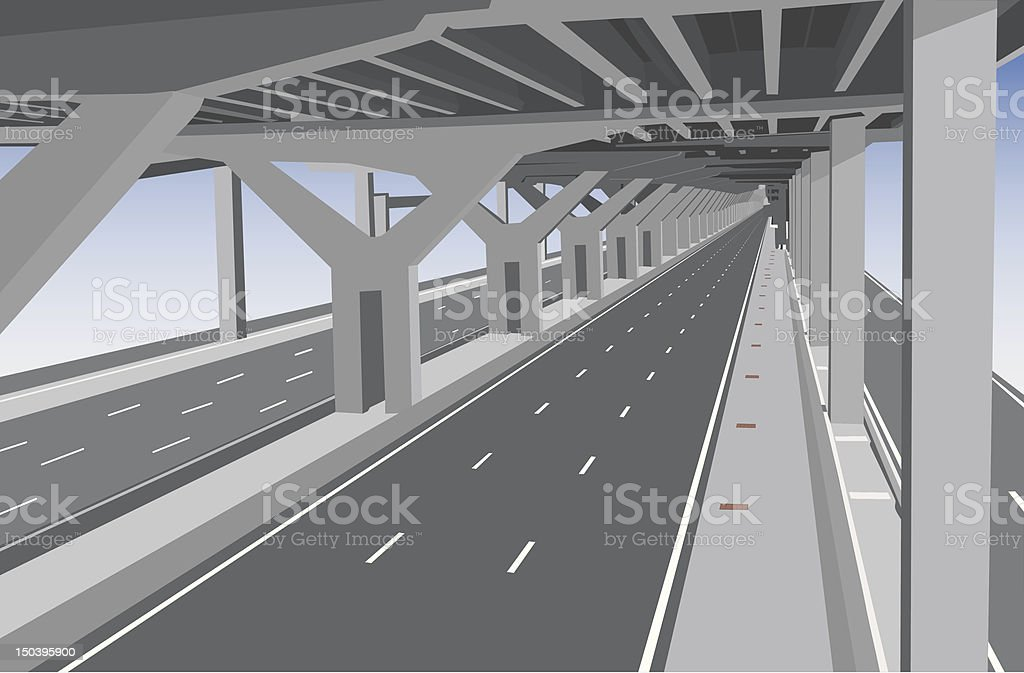 Under the tollway royalty-free stock vector art