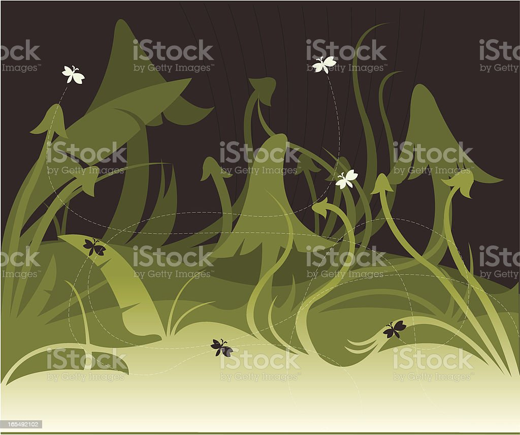 Undergrowth background royalty-free stock vector art