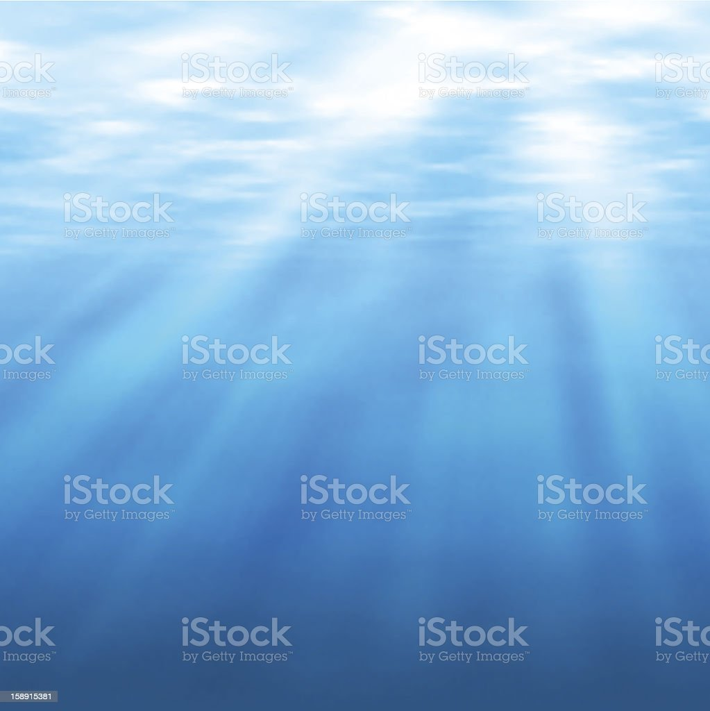 Undersea light royalty-free stock vector art