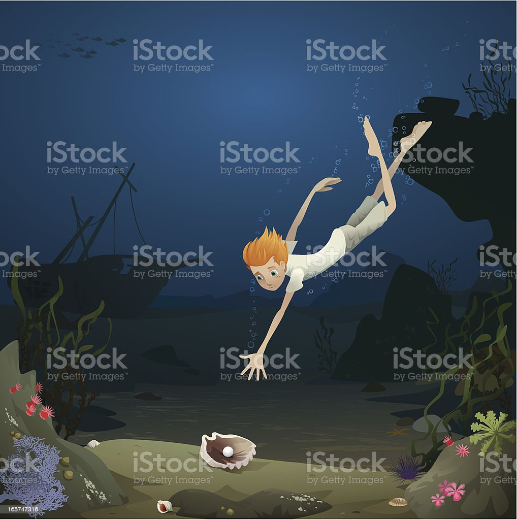 Underwater adventure royalty-free stock vector art