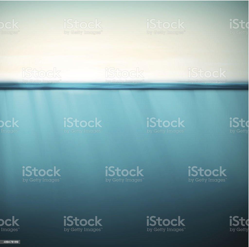 Underwater background vector art illustration