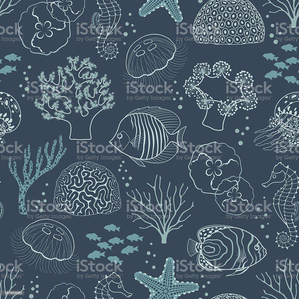 Underwater life pattern royalty-free stock vector art