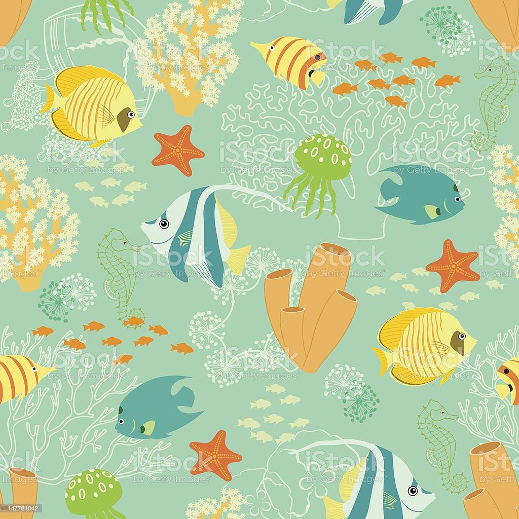 Underwater pattern royalty-free stock vector art
