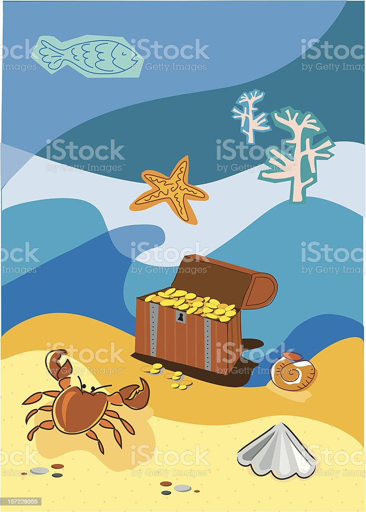 Underwater Treasure royalty-free stock vector art