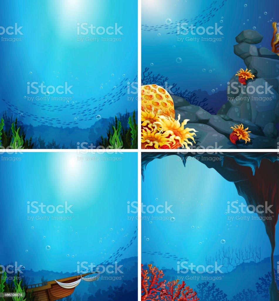 Underwater vector art illustration