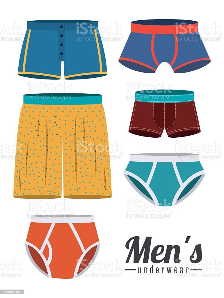 Underwear design vector art illustration