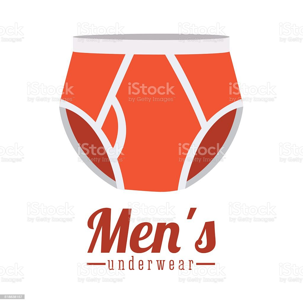 Underwear design vector art illustration