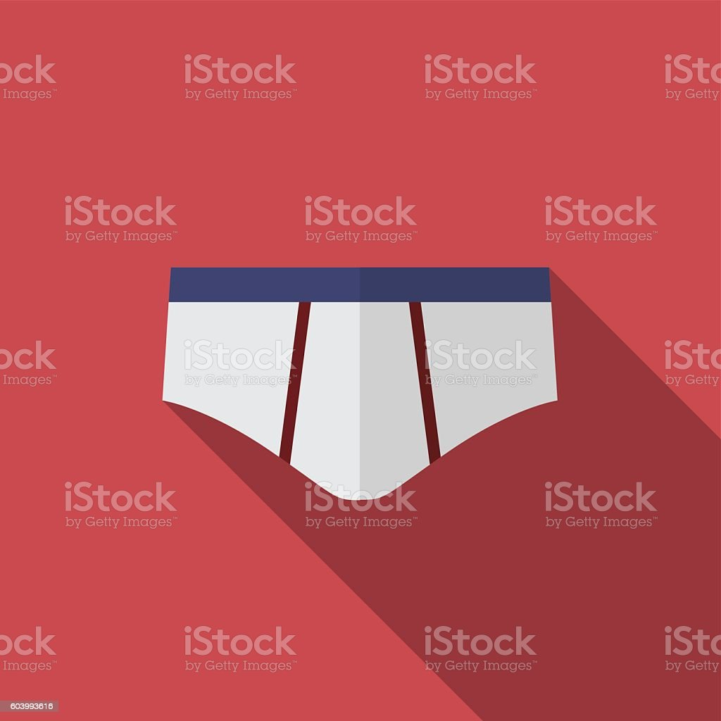 Underwear for man flat icon illustration vector art illustration