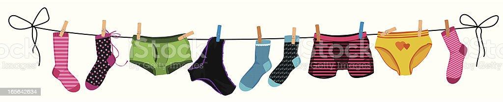 Underwear vector art illustration
