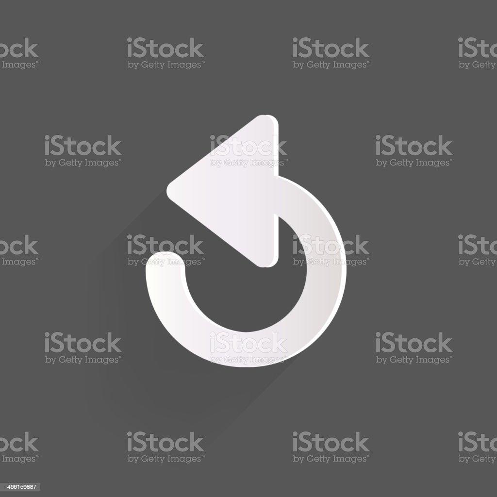 Undo icon, back arrow symbol vector art illustration