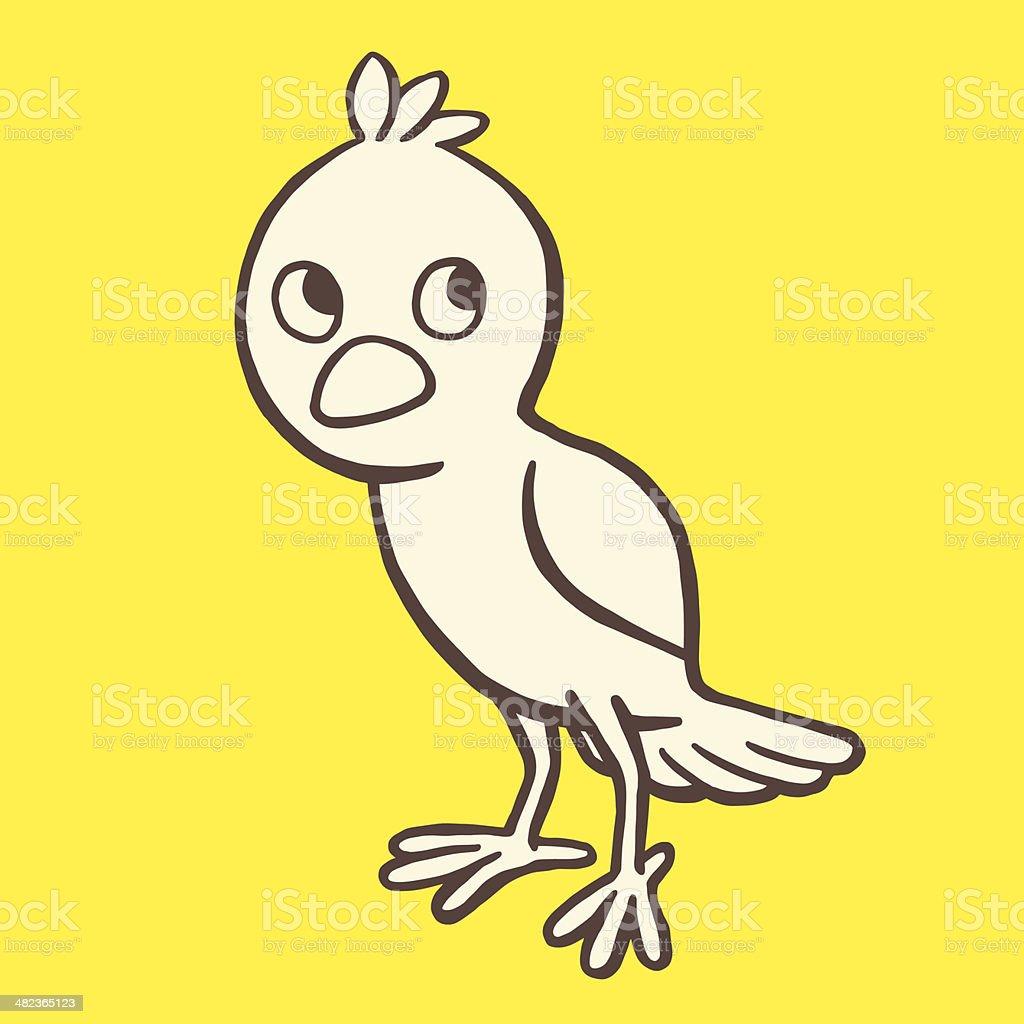 Uneasy Bird royalty-free stock vector art