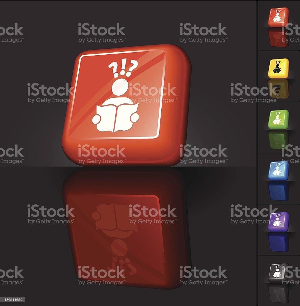 unemployed job search 3D button design royalty-free stock vector art
