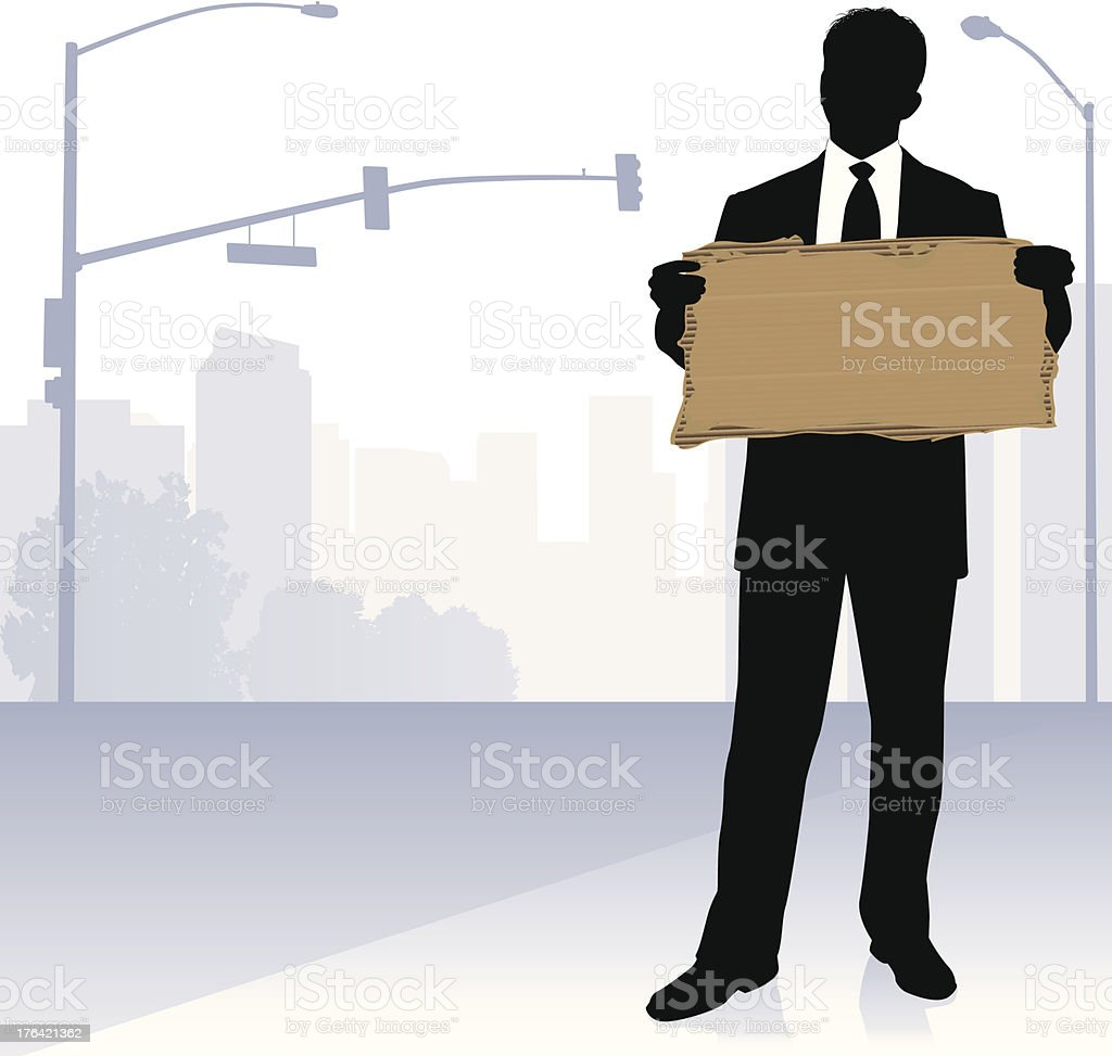 Unemployment Sign vector art illustration