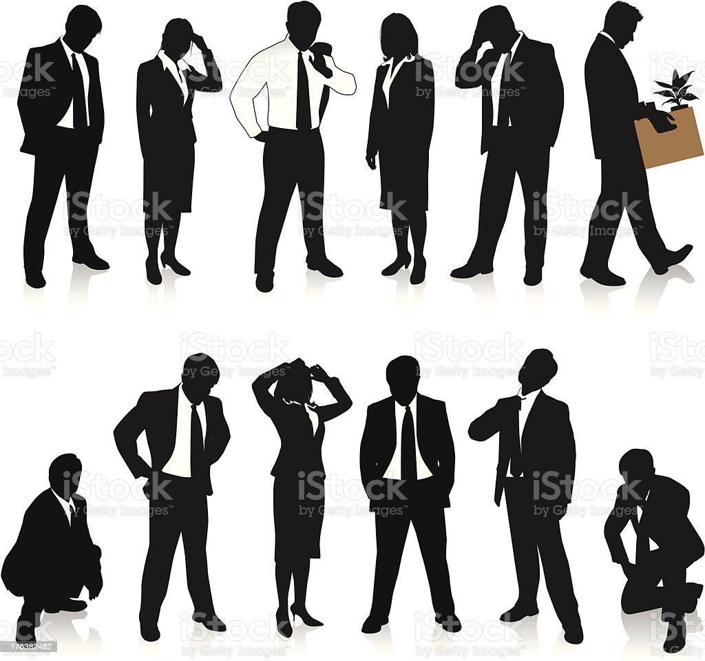 Unemployment vector art illustration