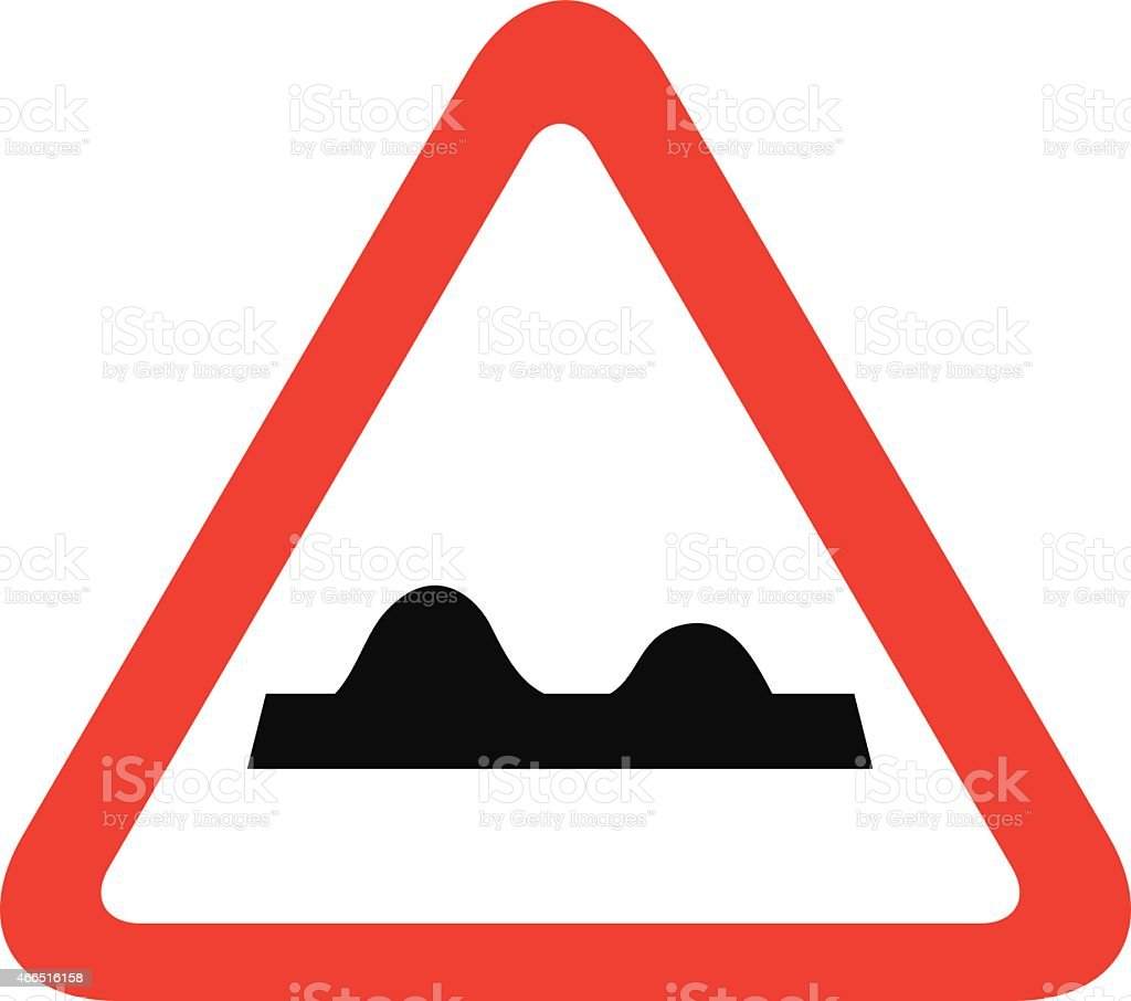 Uneven  traffic sign vector art illustration