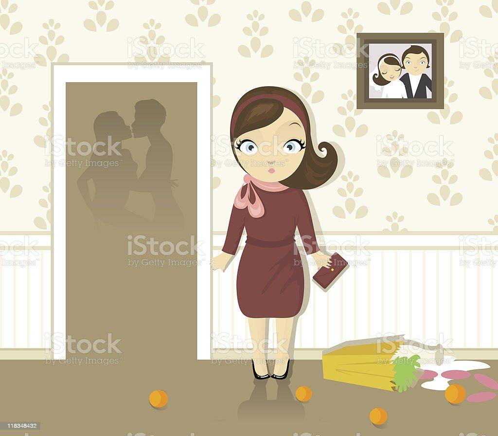 Unfaithfulness vector art illustration