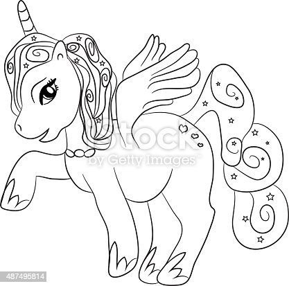 Unicorn Coloring Page For Kids