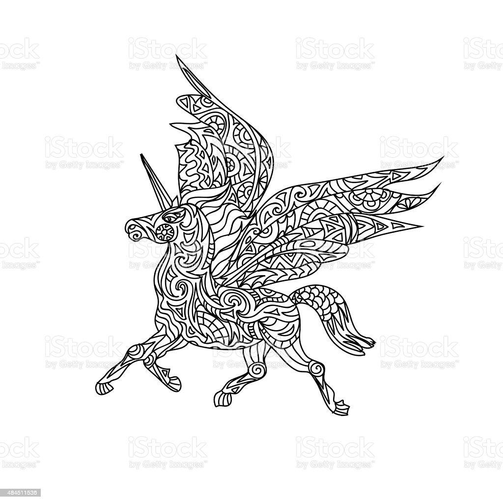 Unicornio Para Colorear P 225 Gina Illustracion Libre De