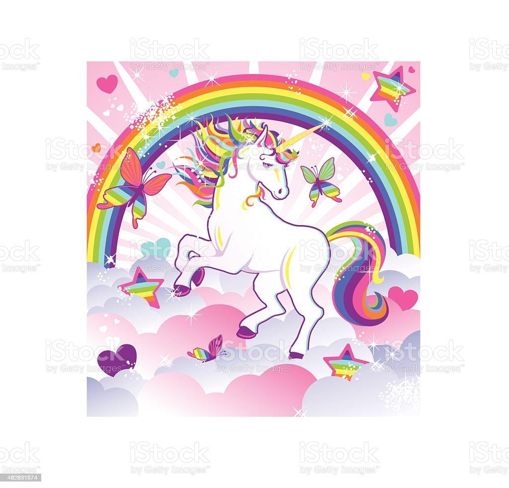 Unicorn Magic vector art illustration