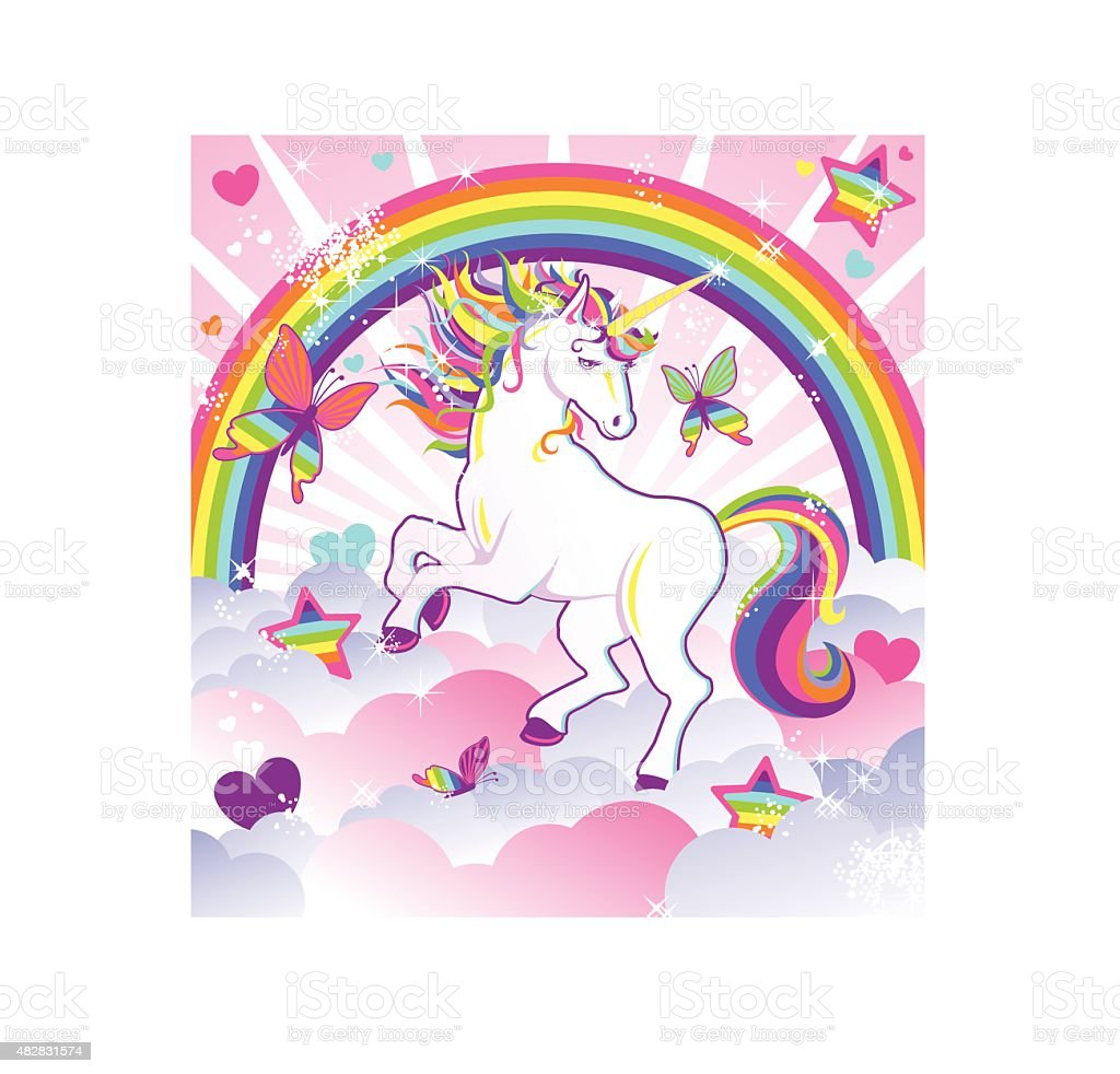Unicorn Magic vector art illustration