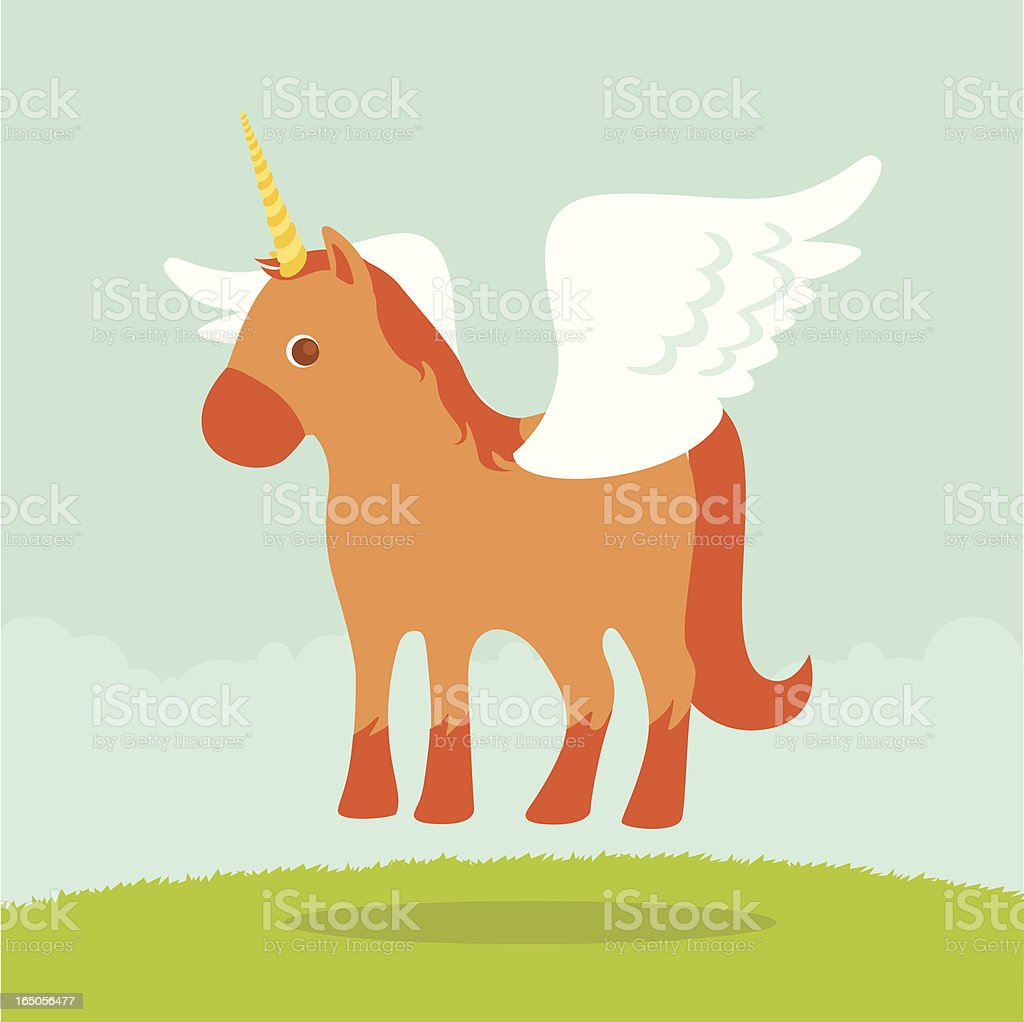 Unicorn / Pegasus vector art illustration