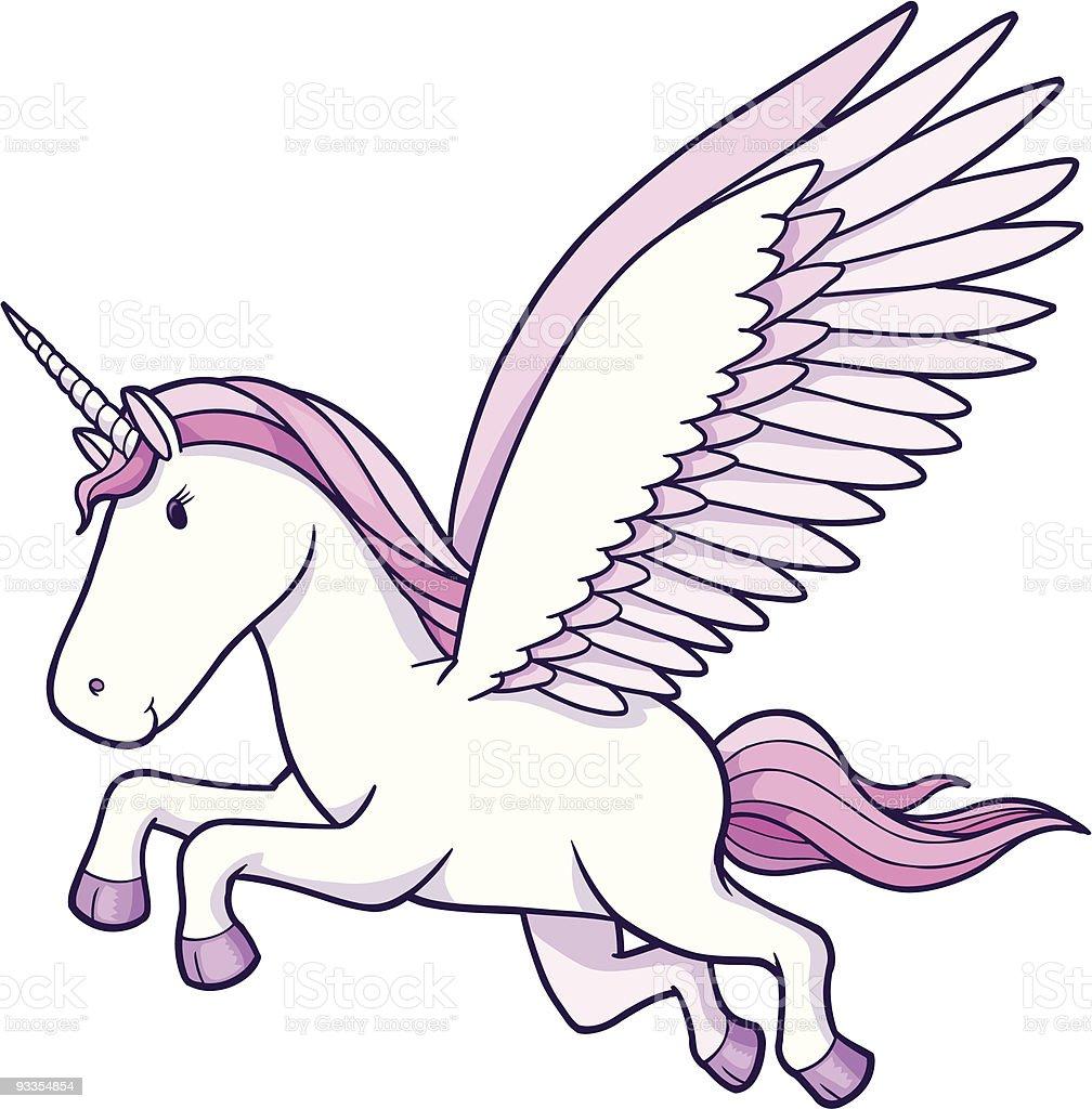 Unicorn Pegasus Vector Illustration royalty-free stock vector art