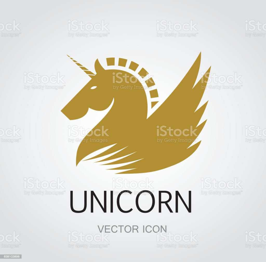 Unicorn symbol vector art illustration
