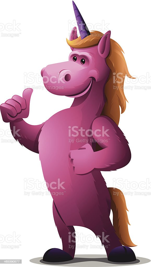 Unicorn: Thumbs Up royalty-free stock vector art