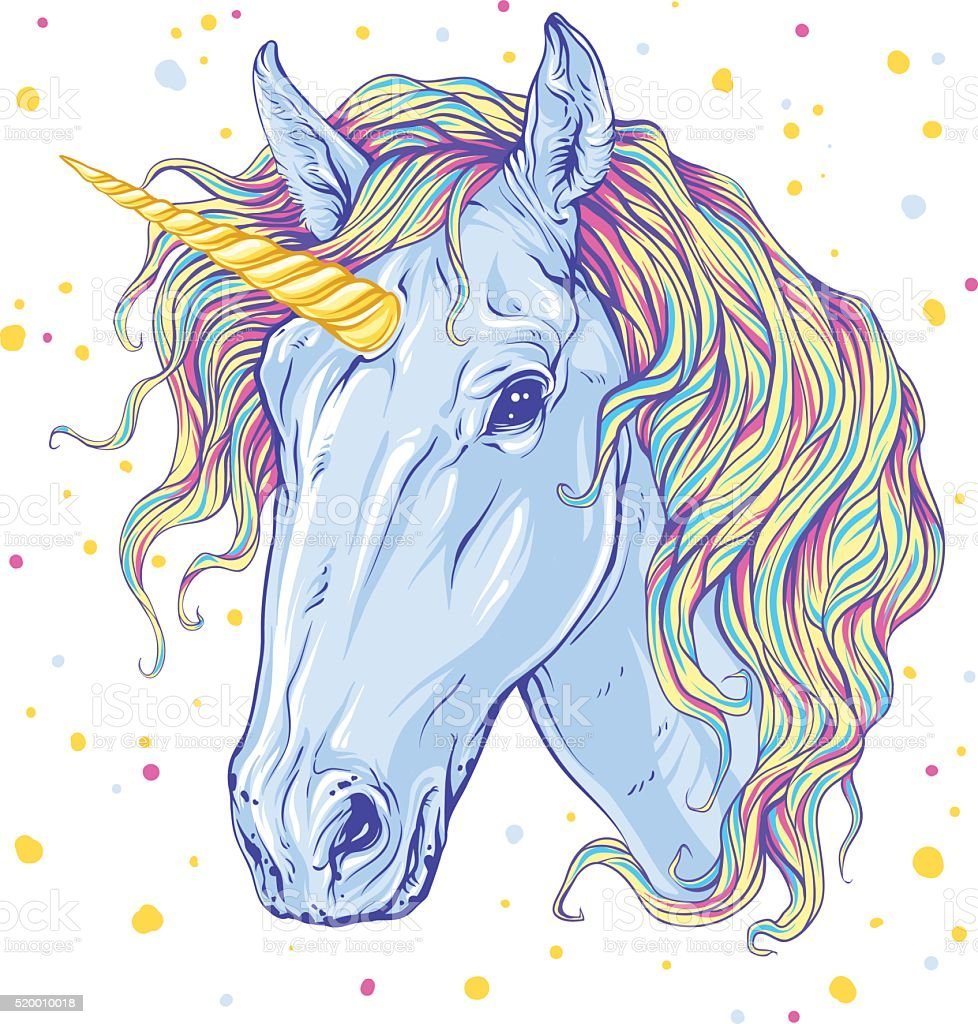 Unicorn vector art illustration