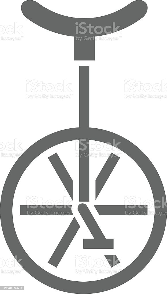 Unicycle Icon Vector Illustration vector art illustration