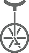 Unicycle Icon Vector Illustration