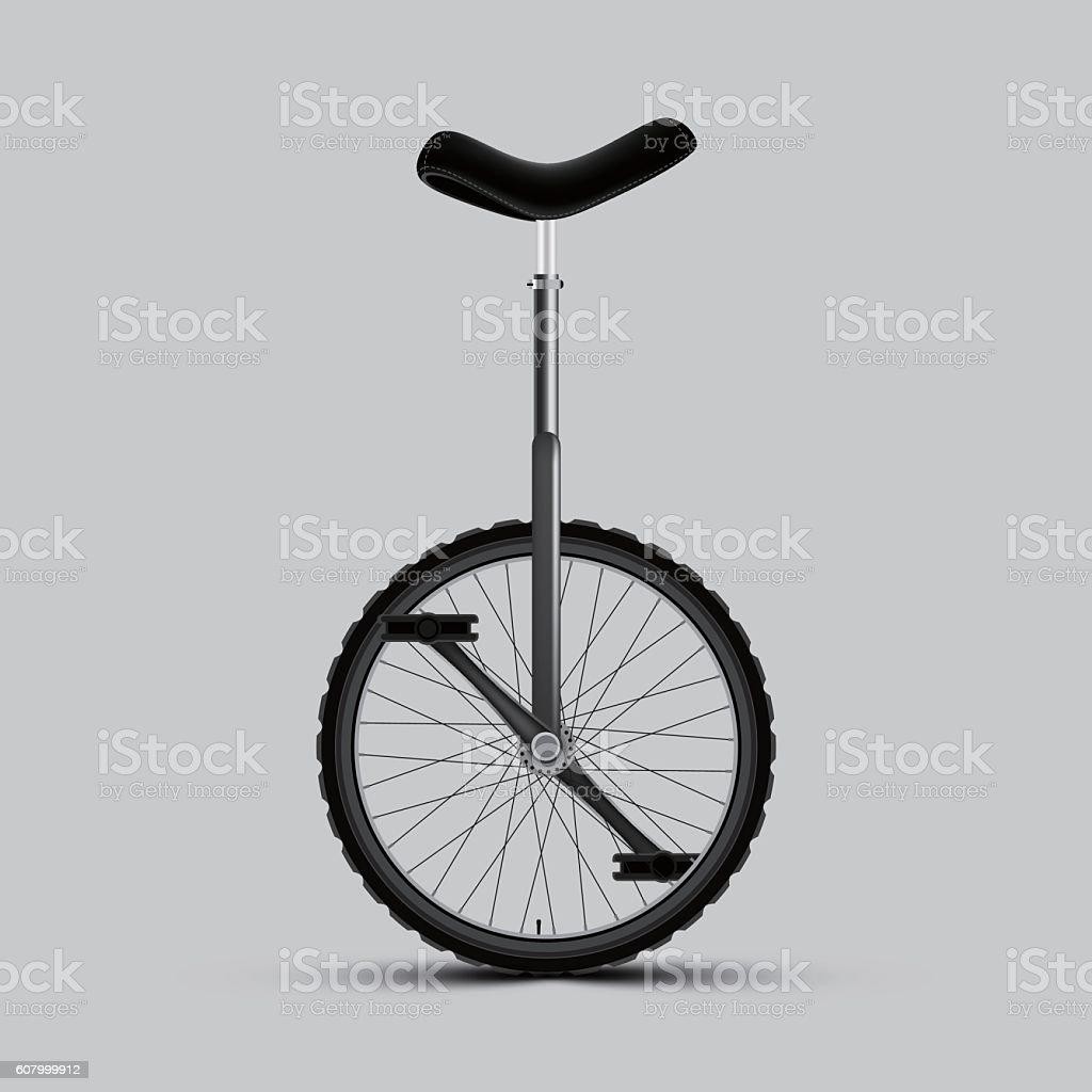 Unicycle vector art illustration