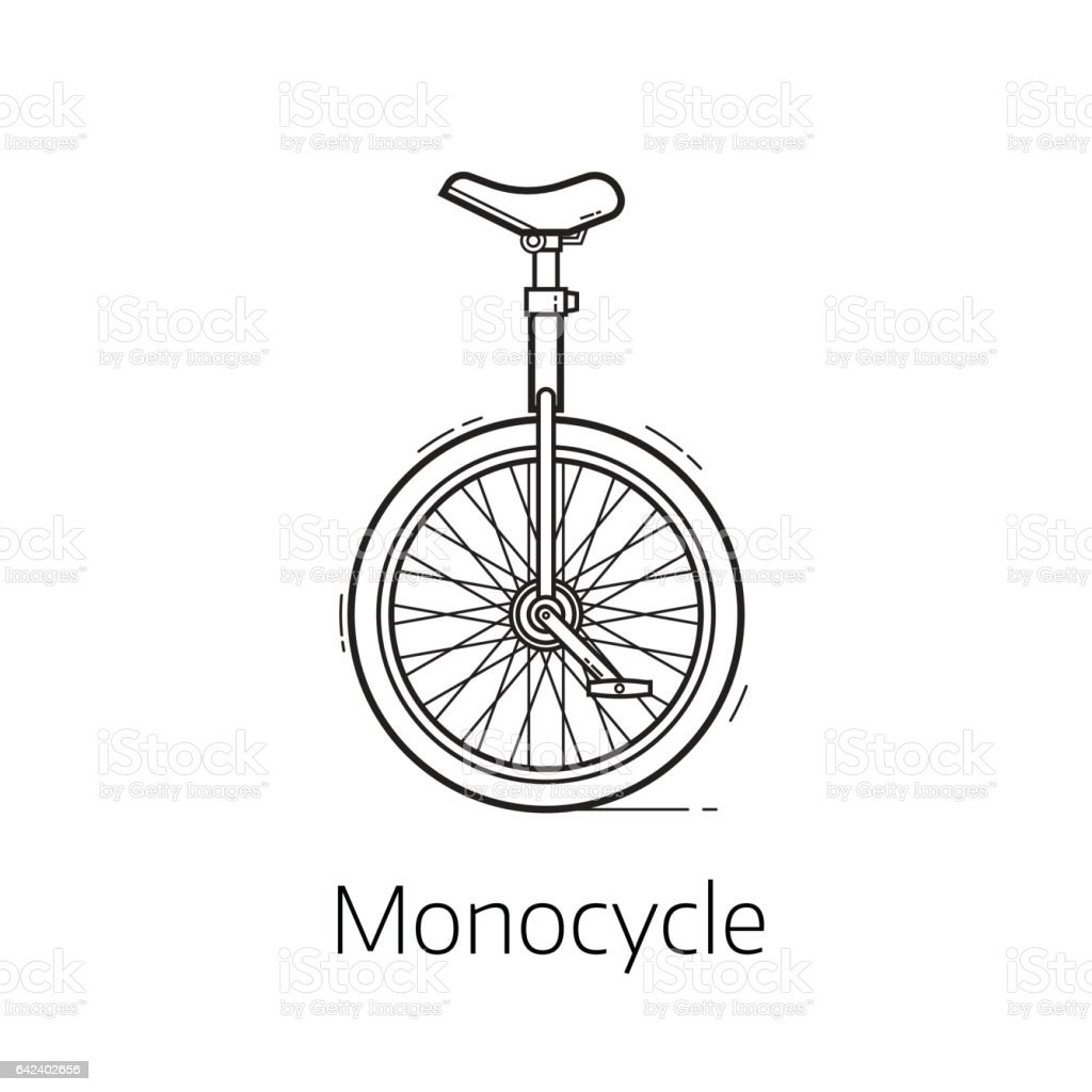 Unicycle Vector Illustration vector art illustration