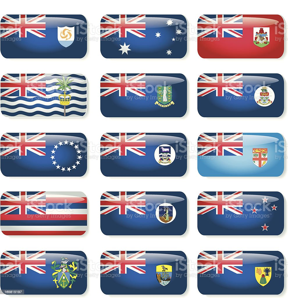 Union Flag Countries royalty-free stock vector art