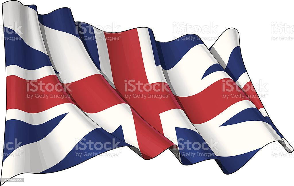 Union Jack 1606–1801 (The King's Colours) royalty-free stock vector art
