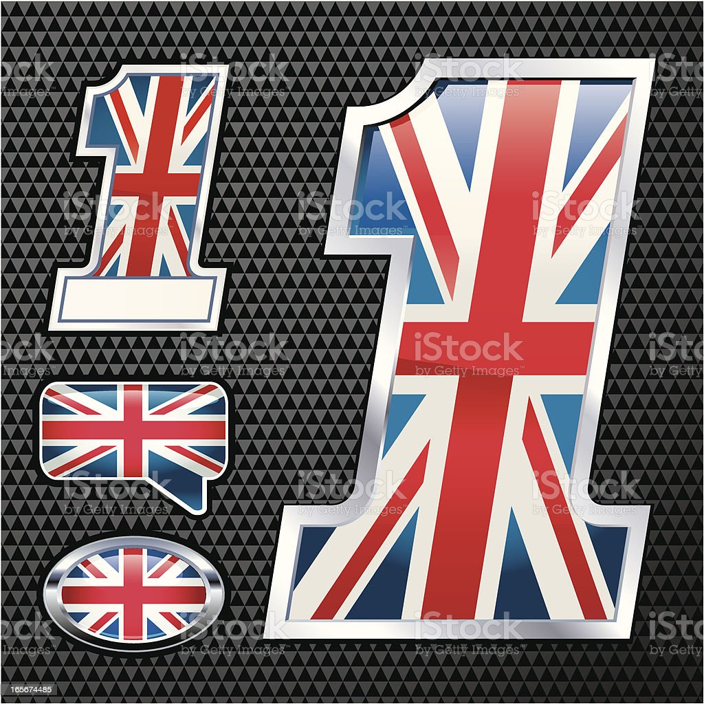 Union Jack (GB) No#1 royalty-free stock vector art