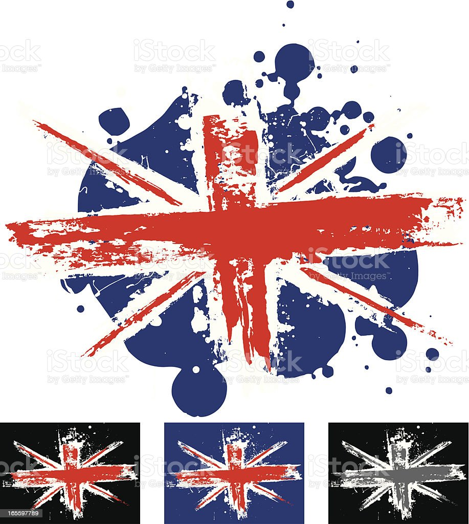 Union Jack vector art illustration