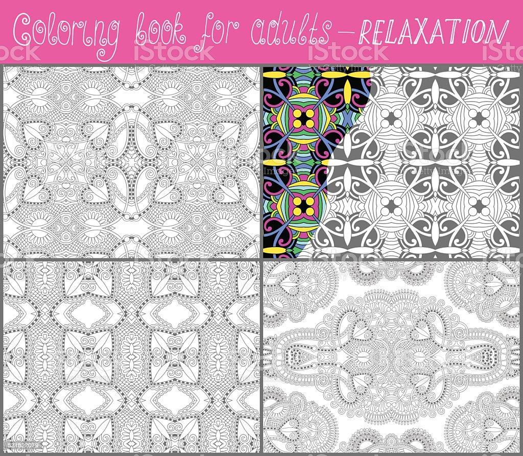 Libro Para Colorear Página Exclusiva Para Adultos De Diseño Paisley ...