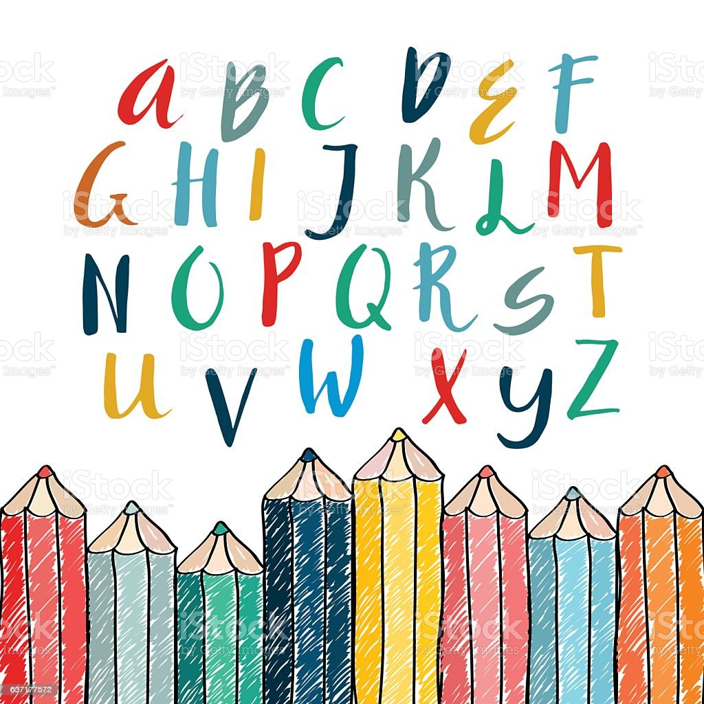 Unique vector alphabet. royalty-free stock vector art