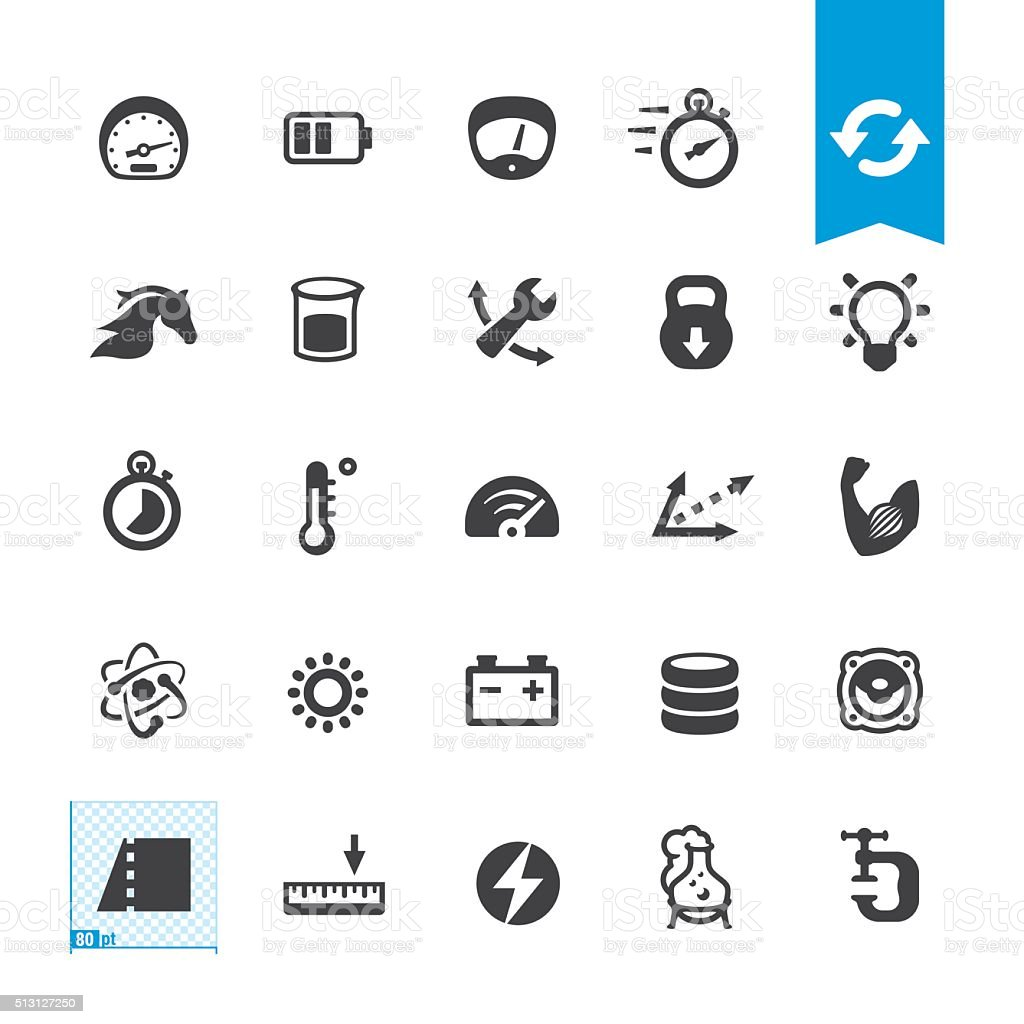 Unit Converter vector icons vector art illustration