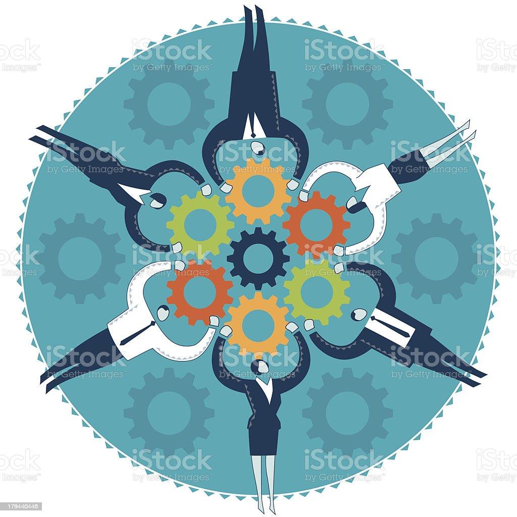 Unite as one vector art illustration