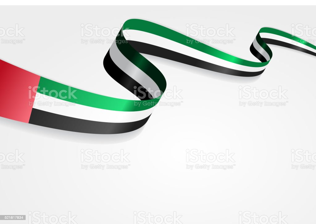 United Arab Emirates flag background. Vector illustration vector art illustration