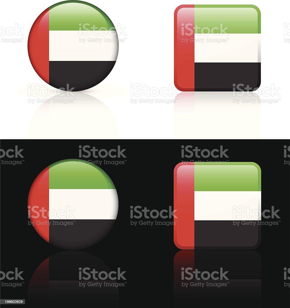 United Arab Emirates Flag Button Set royalty-free stock vector art