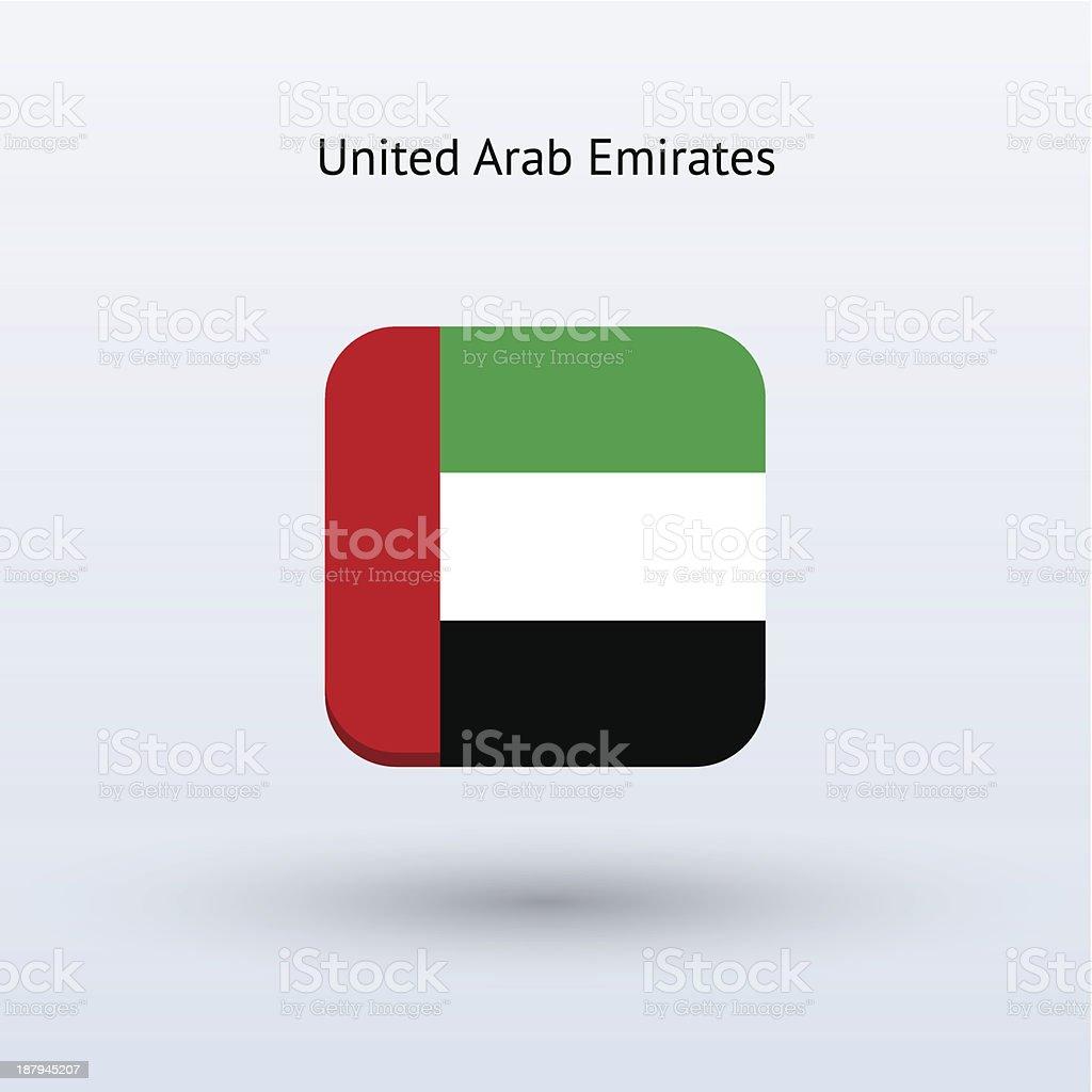 United Arab Emirates Flag Icon royalty-free stock vector art