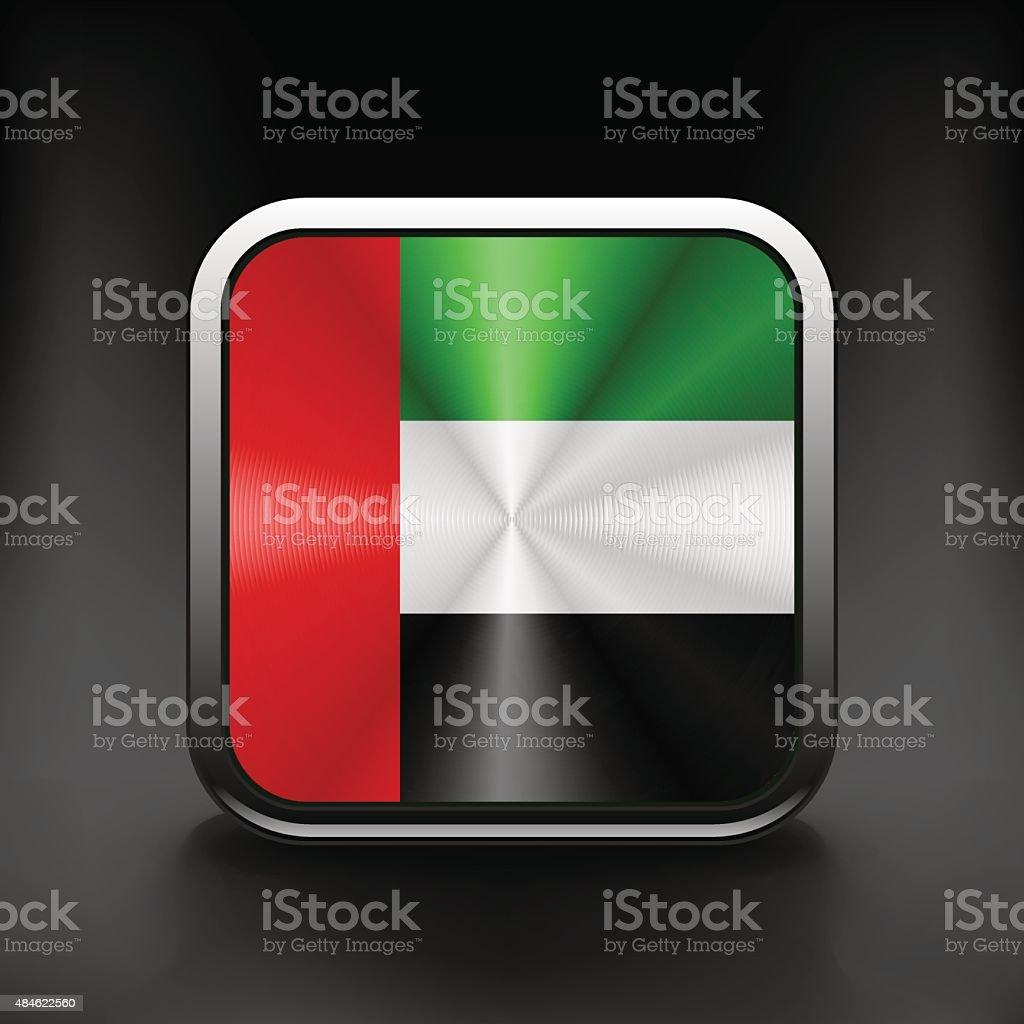 United Arab Emirates flag icon. Vector illustration. vector art illustration