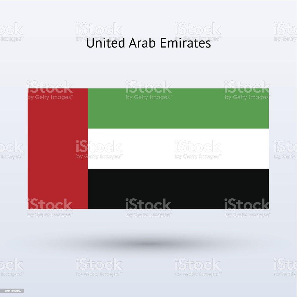 United Arab Emirates Flag royalty-free stock vector art