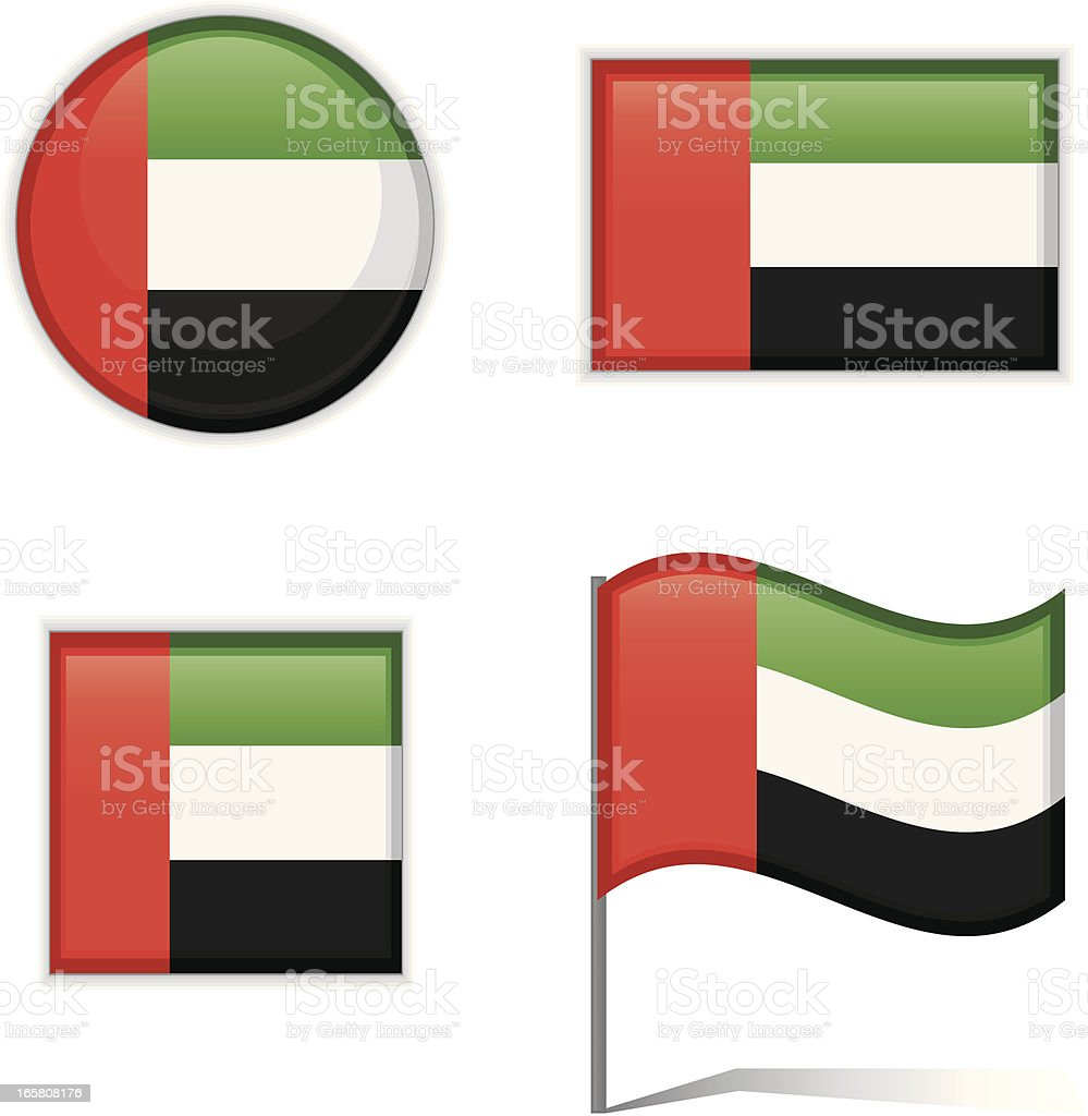 United Arab Emirates flags royalty-free stock vector art