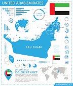 United Arab Emirates - infographic map - Illustration