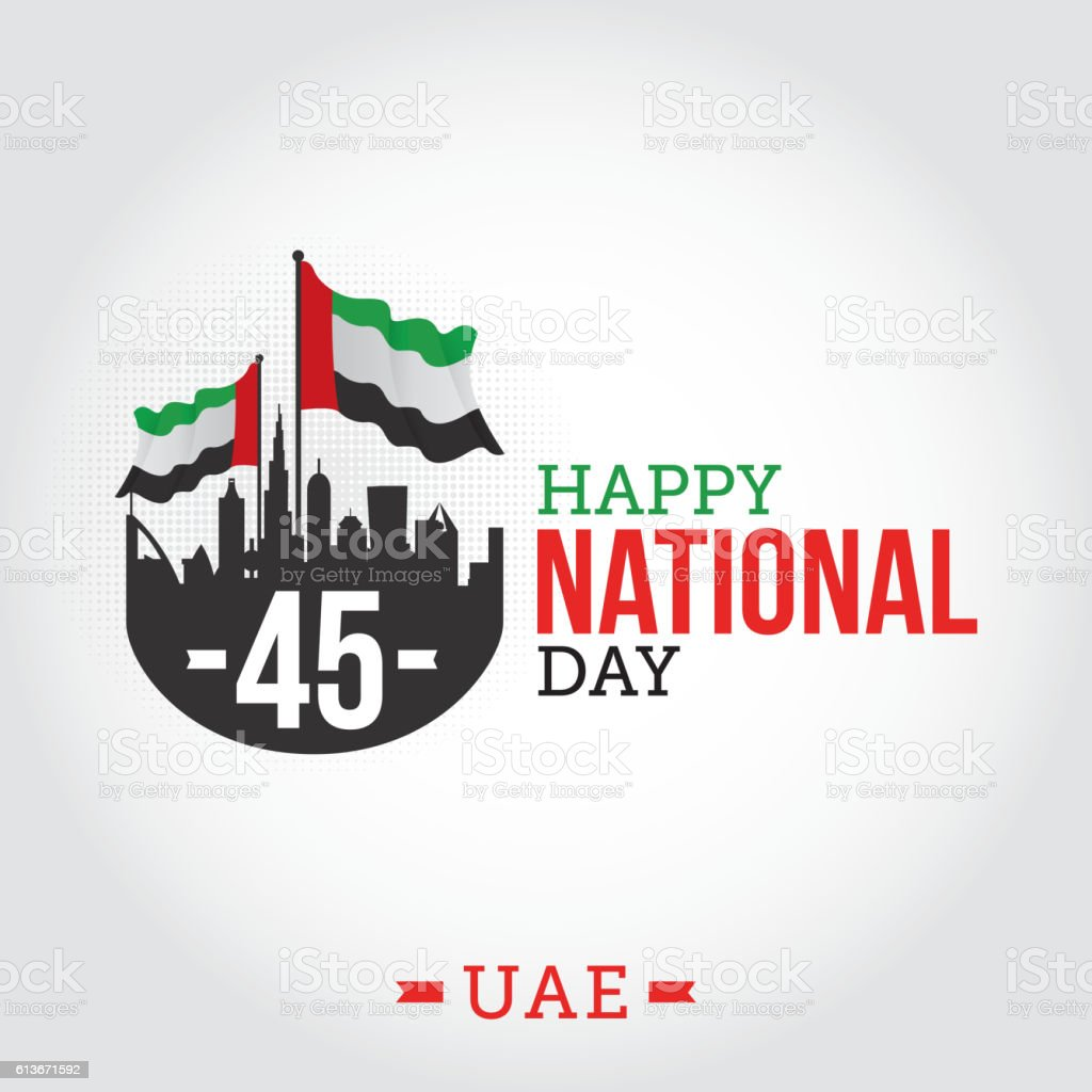 United arab emirates national day vector art illustration